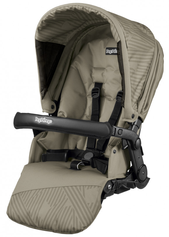Прогулочный блок Peg Perego Seggiolino Pop-Up - Geo Beige