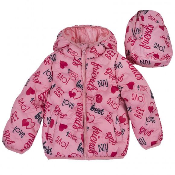Куртка Chicco, принт 4ever Love, для девочек, цвет розовый (ошибка) — Купить по выгодной цене в интернет магазине EuroBabyShop.ru